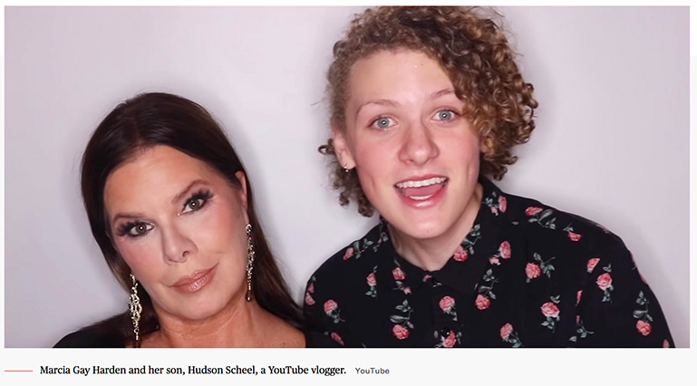 Marcia Gay Hardens Son Did Her Makeup And The Video Is Simply