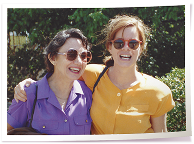 Marcia's mother Beverly (l) and Marcia Gay Harden